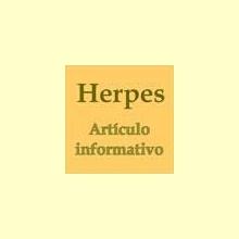 El Herpes - Artículo informativo de Rafael Sánchez - Naturópata