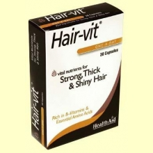 Hair-Vit - 30 cápsulas - Health Aid