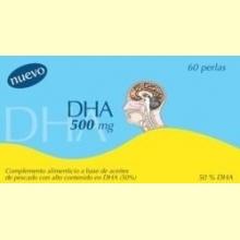 DHA 500 mg – 50% de Omega3 250 mg + Vitamina E - 60 perlas - Dieticlar