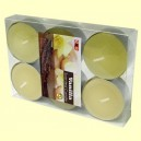 Pack 6 velas tea light aroma a Vainilla - Color Baby