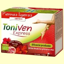 ToniVen Express - Piernas ligeras - 7 ampollas - Laboratorios Ortis