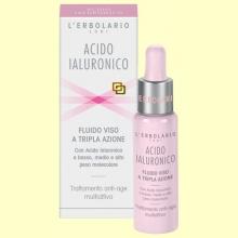Ácido Hialurónico - Fluido cara - Triple acción - 28 ml - L'Erbolario