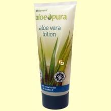 Aloe Vera Loción - con Manteca de Karité y Vitamina E - 200 ml - Aloe Pura