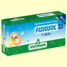 Fisiosol 23 Calcio - 20 ampollas - Specchiasol