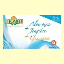 Fitomed D - Aloe Vera + Jengibre + Genciana - 20 ampollas - Dieticlar