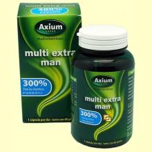 Multi Extra Man - Complejo vitamínico - 60 perlas - Axium