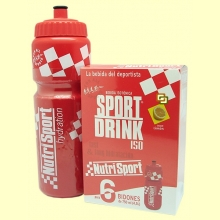 Sport Drink - Bebida Isotónica Concentrada - 6 bidones - Nutrisport