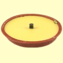 Vela en plato de citronela para ahuyentar los mosquitos - 15 cm - Aromalia
