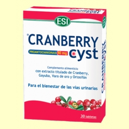 Cranberry Cyst - Arándano rojo - 30 tabletas - Laboratorios Esi