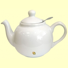 Tetera Cerámica Blanca con filtro metálico - 600 ml - London Pottery