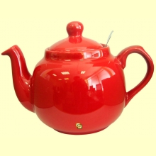 Tetera Cerámica Roja con filtro metálico - 1200 ml - London Pottery