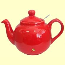 Tetera Cerámica Roja con filtro metálico - London Pottery - 600 ml