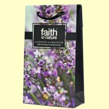 Champú + Acondicionador Lavanda y Geranio - Pack 2 x 250 ml - Faith in Nature