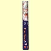 Rosa Blanca - Inciensos India - SAC - 20 bastones de inciensos