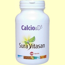 Calcio - Vitamina D3 - Sura Vitasan - 150 cápsulas