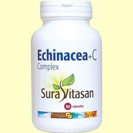 Echinacea + C Complex - Vitamina C - 50 cápsulas - Sura Vitasan