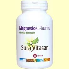 Magnesio - L-Taurina - 90 cápsulas - Sura Vitasan