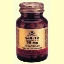 Coenzima Q10-30 mg-Solgar-30 cap. gelatina blanda