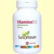 Vitamina B12 500 mcg - 100 comprimidos - Sura Vitasan