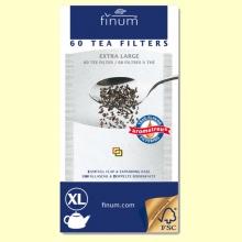 Filtros de Té - Extra Large - 60 filtros XL - Finum