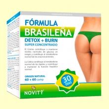 Detox + Burn Fórmula Brasileña - 60 + 60 comprimidos - Novity