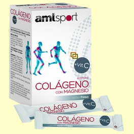 Colágeno con mg + Vit C sticks sabor fresa - 20 sticks - amlsport
