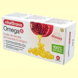 Omega 5 - Aceite de semilla de granada ecológico - 60 cápsulas - VitalGrana