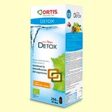 Metodren Detox - Ortis - 250 ml - Sabor melocoton-limón
