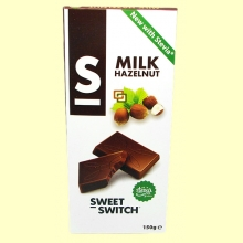 Chocolate con Leche y Avellanas con Stevia - 150 gramos - Sweet Switch
