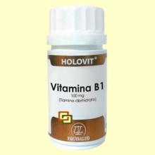 Holovit Vitamina B1 100 mg - Tiamina clorhidrato - 50 cápsulas - Equisalud