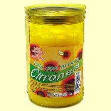 Velón con tapa aroma Citronela