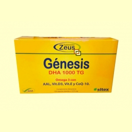 Génesis DHA 1000 TG Omega-3 - 120 cápsulas - Zeus
