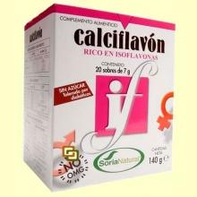 Calciflavón - Rico en Isoflavonas - 20 sobres - Soria Natural