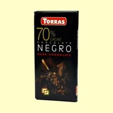 Chocolate Negro 70% Cacao - 80 gramos - Torras