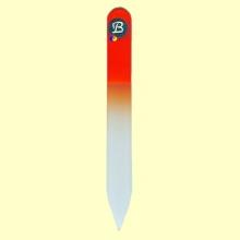 Lima uñas de cristal templado 9 cm color naranja - Bohema