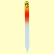 Lima uñas de cristal templado 13,5 cm - Bohema - Color Amarillo Naranja