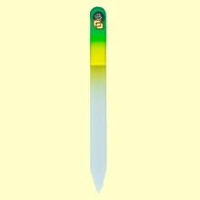Lima uñas de cristal templado 13,5 cm - Bohema - Color Verde Amarillo