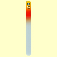Lima uñas de cristal templado 19,5 cm - Bohema Amarillo Naranja