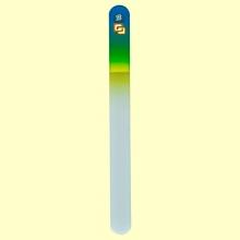 Lima uñas de cristal templado 19,5 cm - Bohema - Azul Amarillo