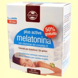 Melatonina Plus Active - 60 + 30 comprimidos - Naturmil
