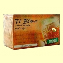 Té Blanco con té verde y té rojo - 20 bolsitas - Santiveri