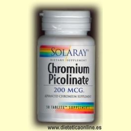 Picolinato de Cromo 50 cápsulas de Solaray
