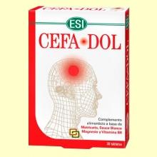 Cefadol - 30 tabletas - Ayuda natural para la cefalea - Esi Laboratorios