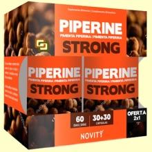 Piperine - Pimienta Piperina - 30 + 30 comprimidos - Novity