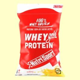 Whey Gold Protein - Nutrisport - 2000 gramos - Yogurt Platano