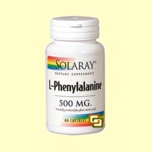 L-Phenylalanine 500 mg - 60 cápsulas - Solaray