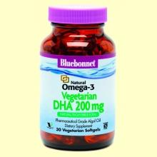 Natural Omega-3 Vegetal DHA 200 mg - 30 cápsulas blandas - Bluebonnet