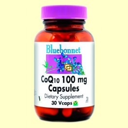 Coenzima Co Q-10 100 mg - 30 cápsulas vegetales - Bluebonnet