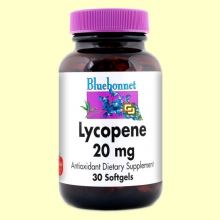 Licopeno 20 mg - 30 cápsulas blandas - Bluebonnet