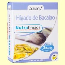 Hígado de bacalao Nutrabasics - 60 perlas - Drasanvi